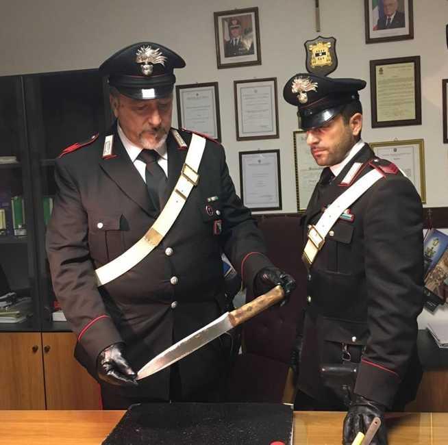 arma sequestrata dai carabinieri