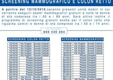 calendario screening colon retto