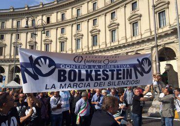 manifestazione contro bolkestein a roma