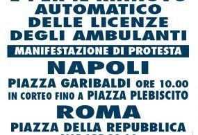 Bolkestein: in attesa della sospensiva del Governo nuova manifestazione a Roma