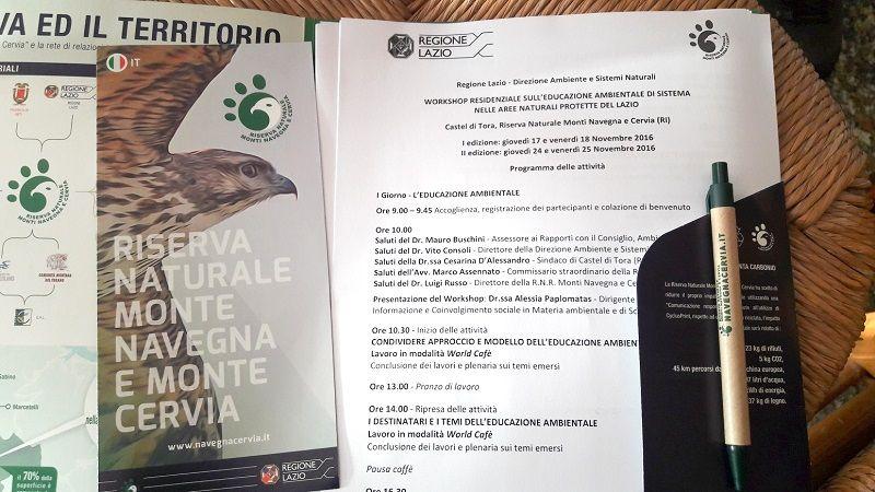 workshop educazione ambientale castelli romani