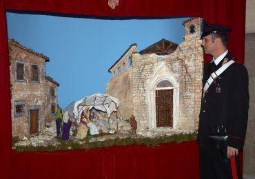 presepe amatrice lazio carabinieri