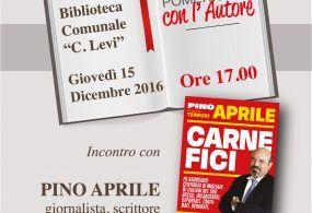 """Incontro con l'autore: Pino Aprile presenta a Genzano """"Carnefici"""""""