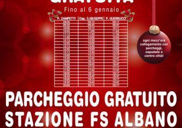 navetta e parcheggio gratis natale albano