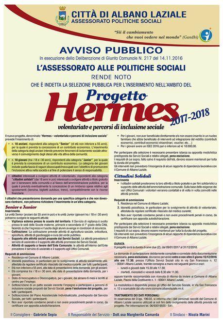 locandina progetto Hermes Albano