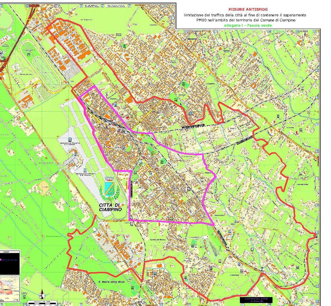 inquinamento mappa ciampino