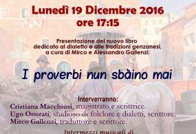 """Questo pomeriggio la presentazione de """"I proverbi non sbàino mai"""" a Genzano"""