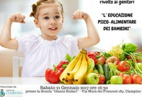 L'alimentazione psico-alimentare dei bambini: sabato a Ciampino un incontro rivolto ai genitori