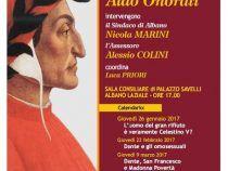 """Albano Laziale – 26 gennaio iniziano le """"Lectio Magistralis"""" sulla Divina Commedia a cura di Aldo Onorati"""