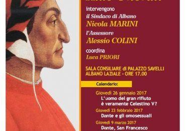 """Albano Laziale - 26 gennaio iniziano le """"Lectio Magistralis"""" sulla Divina Commedia a cura di Aldo Onorati"""