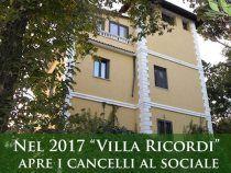 """Ariccia – Nel 2017 """"Villa Ricordi"""" apre i cancelli al sociale"""