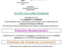 Tumore al seno e al colon retto: dal 13 al 28 febbraio screening gratuiti a Genzano