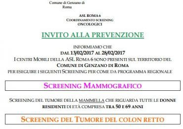 screening gratuiti genzano