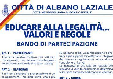 concorso legalità albano