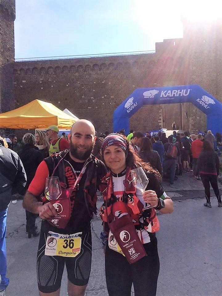 Luca e Oriana a Montalcino
