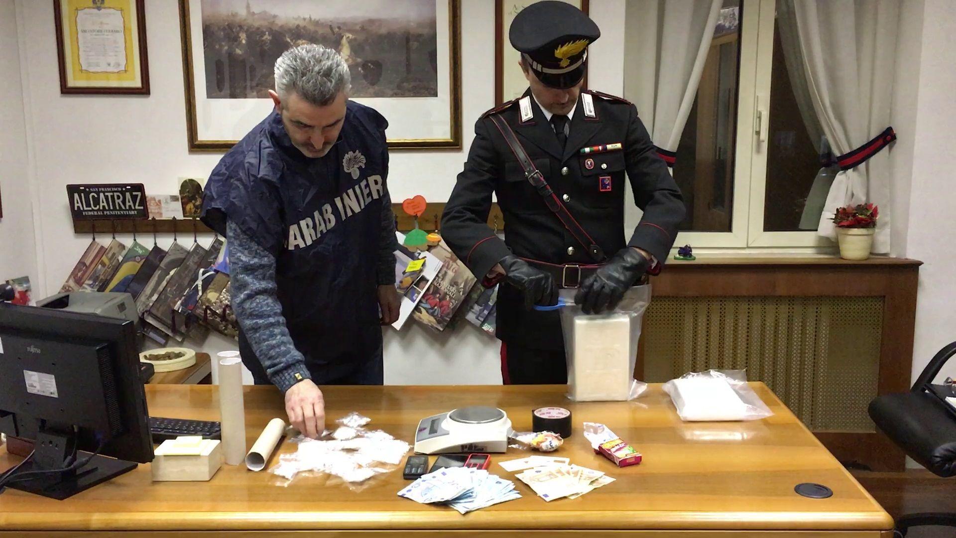 monterotondo droga cocaina carabinieri