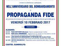 Vittime dei bombardamenti di propaganda Fide: doppia cerimonia ad Albano e Castel Gandolfo