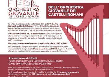 bando orchestra castelli romani