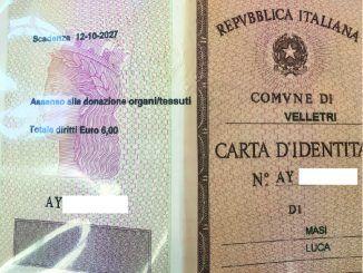 carta identitià velletri organi