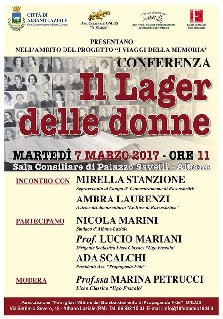 conferenza il lager delle donne albano