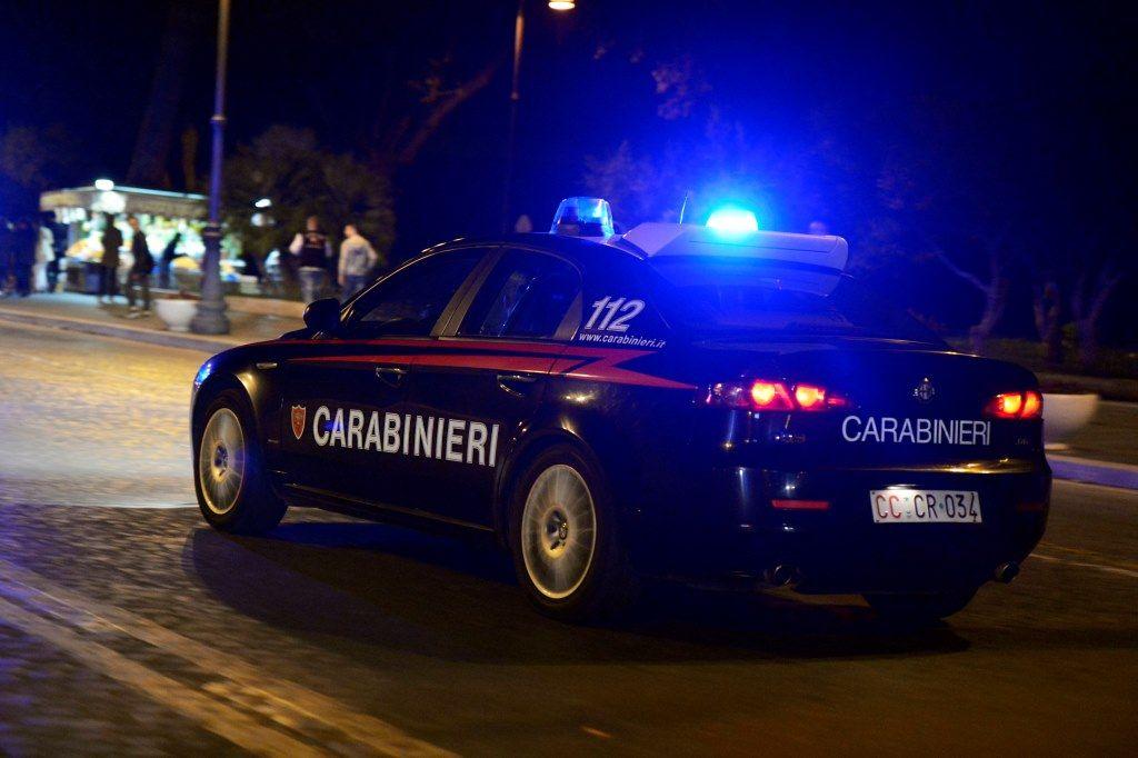 carabinieri auto vetri bosniaca