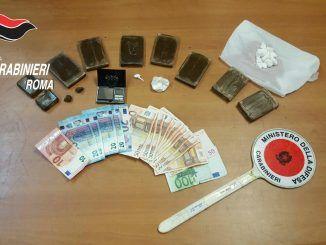 pusher romano droga carabinieri