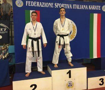 Podio Coppa Italia Castaldi Kumite