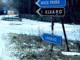 neve rocca priora lariano