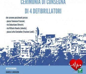 cerimonia di consegna 4 defibrillatori per Genzano
