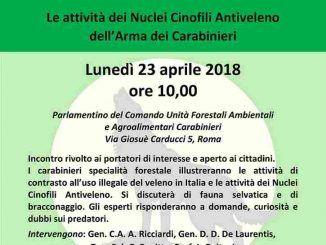 """Lunedì 23 aprile, il convegno """"Uso illegale del veleno contro la fauna"""" per dire basta alla morte degli animali"""