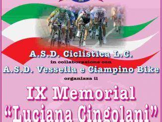 """IX Memorial """"Luciana Cingolani"""" a Ciampino, domenica 24 giugno"""