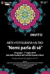 Inaugurazione mostra d'arte e fotografia Nemi parla di sè, domani 24 giugno
