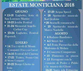 Calendario eventi estivi a Monte Compatri: ecco tutti gli appuntamenti da non perdere