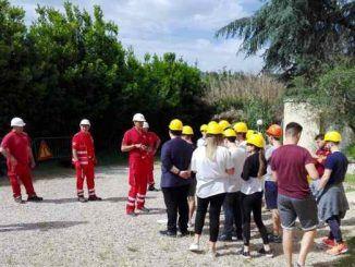 Studenti di Villa Sora e Croce Rossa Italiana a lavoro insieme, a seguito dei disagi del maltempo