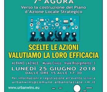 Albano Laziale, VII Agorà del progetto europeo UrbanWins in programma lunedì, 25 giugno