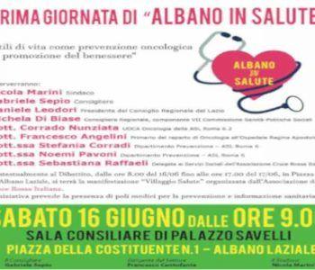 Albano Laziale, avviata la rassegna Albano In Salute