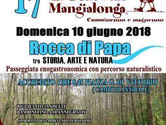 """""""La Mangialonga"""" torna la passeggiata enogastronomica di Rocca di Papa per la sua 17 esima edizione"""