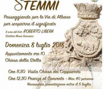 Domenica 8 luglio ad Albano Laziale, la manifestazione Segni e Stemmi