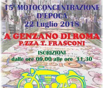 La Motoconcentrazione d'epoca torna a Genzano per la sua 15 esima edizione