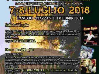 Manifestazione La Torre D'oro, a Lanuvio domani 7 luglio