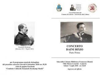 Concerto a Lanuvio organizzato dal comitato Culturale Emanuele Krakamp Musik con le musiche dei virtuosi compositori dell'ottocento