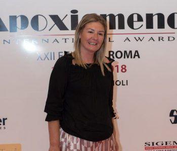 Enrica Cammarano, Consigliere Comunale di Albano Laziale riceve il premio Apoxiomeno Award