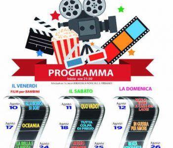 Albano Laziale, Cinema Gratuito a Piazza Pia da venerdì 10 agosto