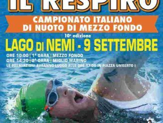 Arriva a Nemi, Trattenete il Respiro: la gara di nuoto di mezzo fondo, avrà luogo il 9 settembre 2018