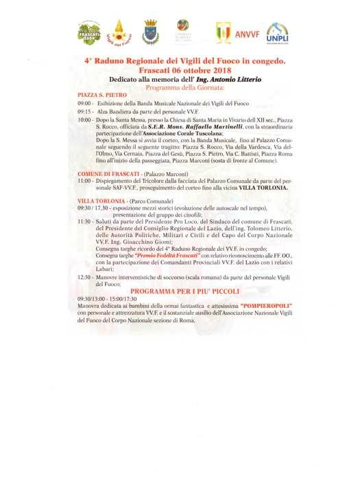 Raduno Regionale dei Vigili del Fuoco