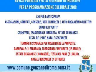 iniziative per la programmazione culturale 2019
