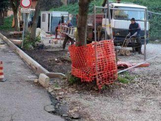 sistemazione del parcheggio di Villa Sciarra